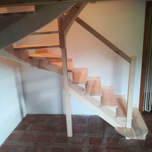 escalier demi tournant crémaillère