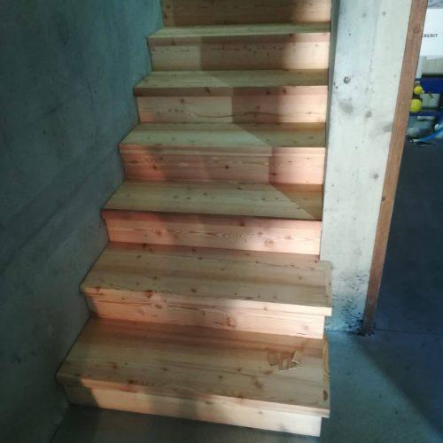 couverture escalier béton vieux bois