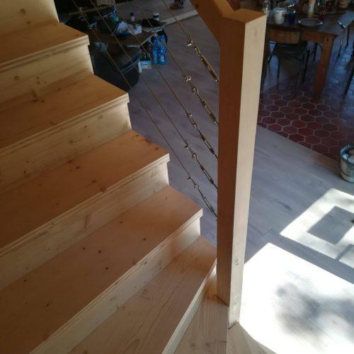 escalier épicéa