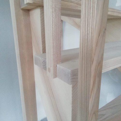 escalier deux quart tournant frêne balustre bois